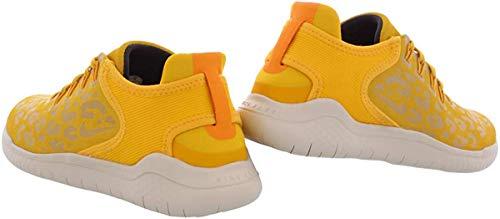 Nike Women's Free RN 2018 Wild Velvet Running Shoe (7.5 B(M) US, Yellow Ochre/Oil Grey-University Gold)