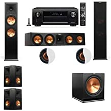 Dolby Atmos 5.1.2 Klipsch RP-280F Tower Speakers R-115SW with Denon AVR-X4200W