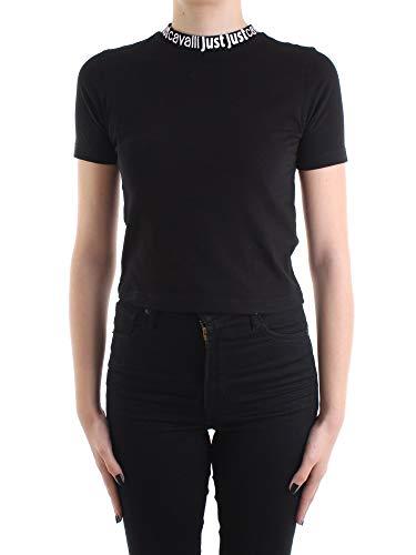 Just Cavalli S02GC0383 N21463 T-Shirt Donna Nero M