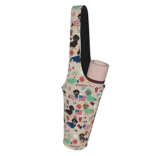 Fodmua Dachshund Julio Th Yoga Mat Bag Tote Sling Carrier Yoga Accesorios para la mayoría de esterillas