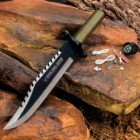 K EXCLUSIVE Amazon Jungle Survival Knife and Sheath