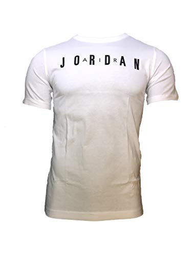 Nike Air Jordan Big Boys T-Shirt (White 23, Medium)