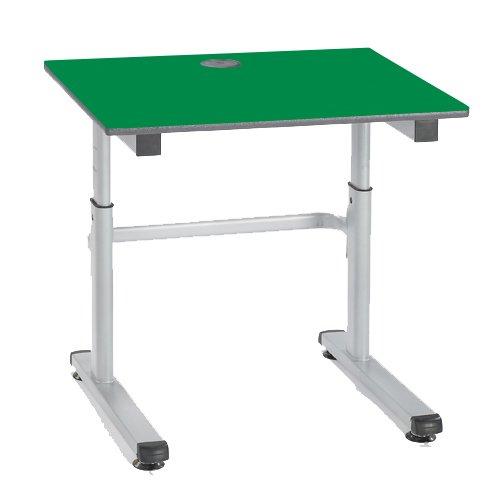 metalliform HA200/a-76-b-green höhenverstellbar Tisch, Buro Edge, Silber Rahmen, grün