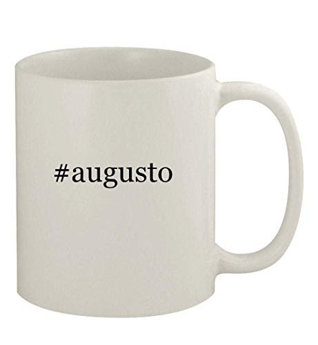 N\A #Augusto - Taza de cerámica Blanca para café, Blanca