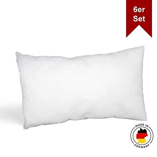 LILENO HOME 6er Set Kissenfüllung 40 x 60 cm - waschbares Innenkissen geeignet für Allergiker - Polyester Kisseninlet als Couchkissen, Sofa Kissen, Cocktailkissen und Kopfkissen