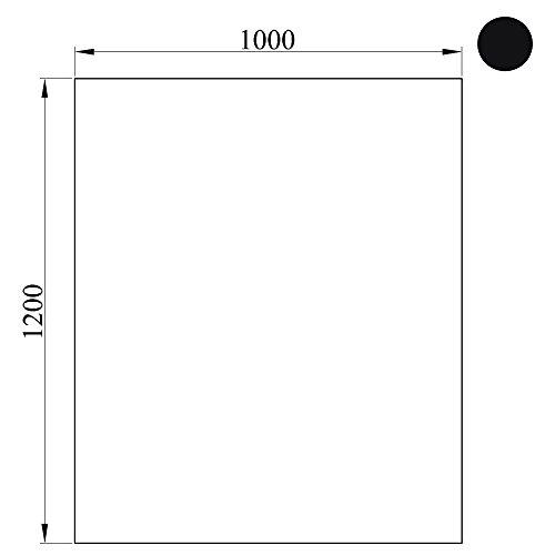 Bodenplatte rechteckig schwarz ca. 120 x 100 x 0,2 cm