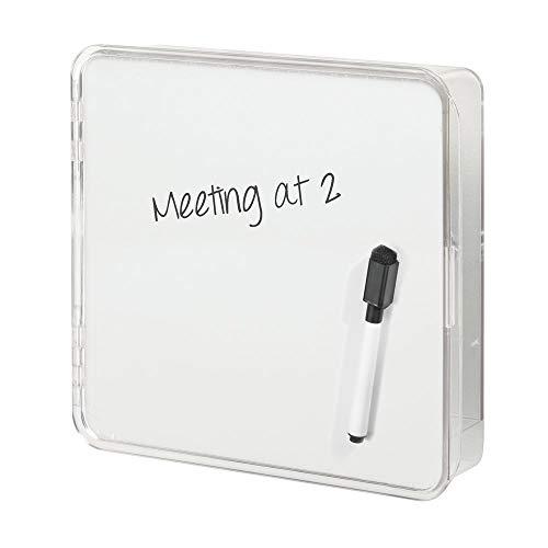 mDesign Schlüsselkasten – Moderne Schlüsselleiste für platzsparende Aufbewahrung von Schlüssel, Briefe, Prospekte, Brillen usw. -– Vier Schlüsselhaken - Farbe: Weiß/durchsichtig