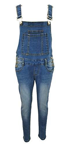Girls Fashion Tolle Jeans Latzhose für Mädchen, Gr. 164/170, M7786.16