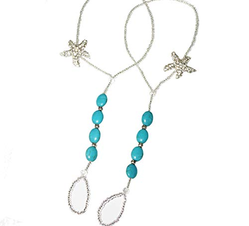 Turquoise Foot Jewelry Beach Sandals Beach Wedding Something Blue Rhinestone Starfish Anklet Bling Barefoot Sandals Vacation Party Pool Belly Dance Accessories