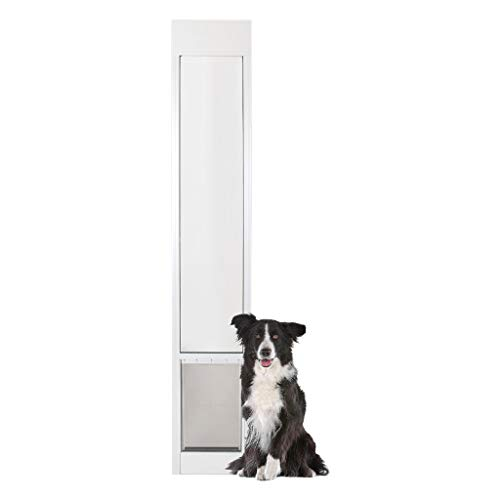 PetSafe Freedom Aluminum Patio Panel Sliding Glass Dog and Cat Door, Adjustable