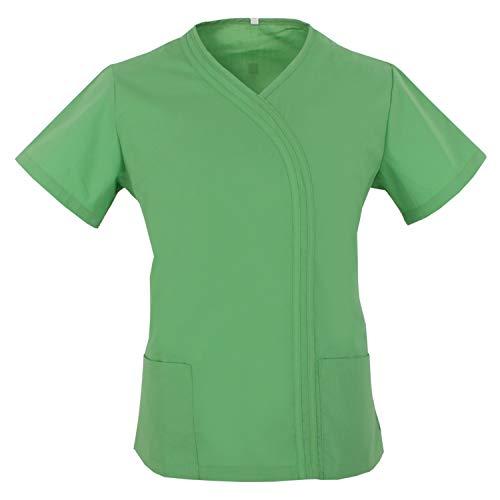 MISEMIYA - Casaca MÉDICA Enfermera Doctor Dentista Uniforme Laboral CLINICA Limpieza Hospital Veterinaria SANIDAD HOSTELERÍA Ref.Q8119 - S, Casaca Sanitarios Q8119-18 Verde Manzana