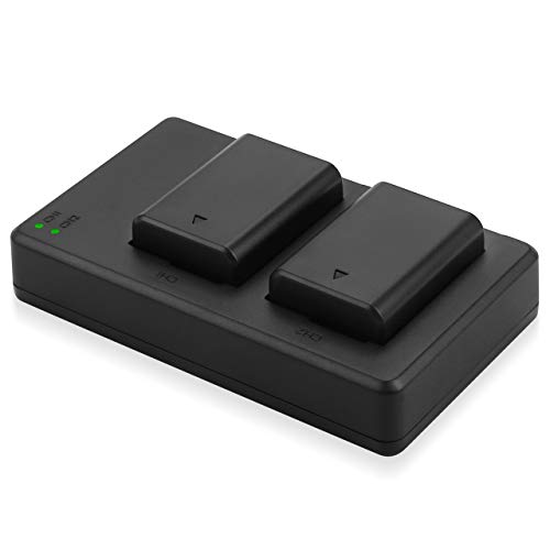 NP-FW50 Camera Batteries Charger Set, 2 Pack Replacement Battery Compatible for Sony Alpha A6000, A6500, A6300, A6400, A7, A7II, A7RII, A7SII, A7S, A7S2, A7R, A7R2, A55, A5100, RX10 Camera