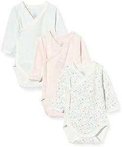 Petit Bateau 5690599 Conjunto de Ropa Interior para bebés y niños pequeños, Rosa Blanco/Multico Blanco/Verde, 6 Meses