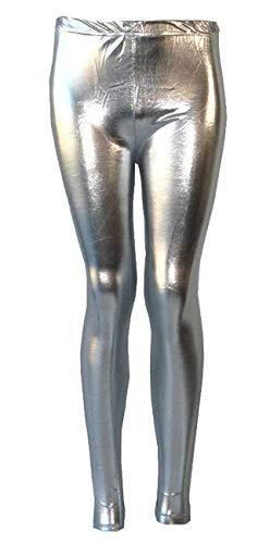 AEL Brillante Chica de Polainas de Danza Disco Niños Navidad Color Fija Pantalones Tamaño 78910111213años