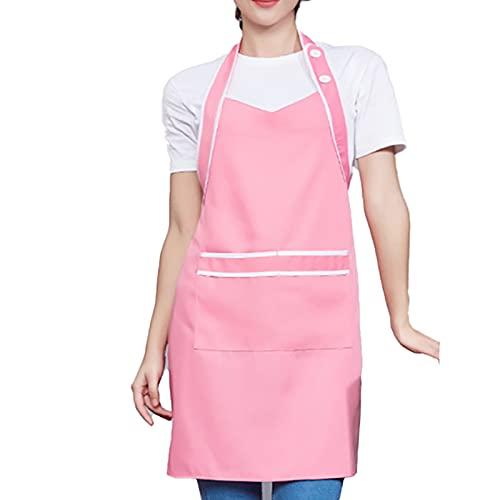 2 piezas de delantal de mujer de limpieza a la moda resistente al desgaste para hombres y mujeres para el chef de la cocina