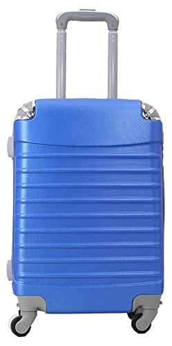 Maleta de Cabina 20x35x55cm con Esquinas Plateadas (Azul electrico)