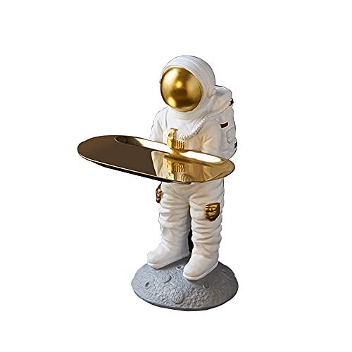 KLFD Vassoio Porta Chiavi Astronauta Portachiavi Portachiavi Ornamenti Portagioie Portagioie Vassoio per Spuntini Portaoggetti da Scrivania Artigianato in Resina Ornamenti per Astronauti,Style B