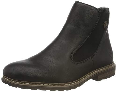 Rieker Damen 71071 Chelsea-Stiefel, schwarz, 40 EU