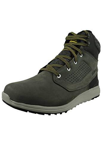 Salomon Men's Utility CSWP Winter Snow Boots, Beluga/Black/Green Sulphur, 11