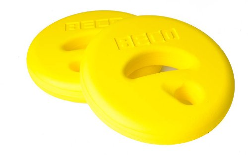 BECO AquaDisc SZ Aqua Training Trainingsscheiben Aqua Hanteln Paar gelb