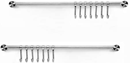Pots and Pans Hanging Rack Wall Mounted Audmore 304 Stainless Steel 15 6 Inch Straight Bar Utensil product image
