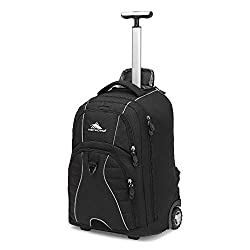 top 10 wheeled school backpacks High Sierra Freewheel laptop backpack, with wheels, black, 20.5 x 13.5 x 8 inches