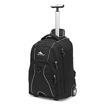 High Sierra Freewheel Wheeled Laptop Backpack Black 20.5 x 13.5 x 8-Inch