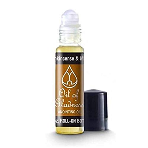 Oil of Gladness Frankincense and Myrrh Anointing Oil - Oil for Daily Prayer, Ceremonies, and Blessings 1/3 oz Roll-On