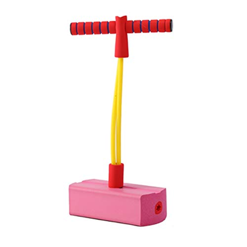 WENJIA Pogo Sticks Puente De Pogo Pogo Sticks Bungee Jumper Hace Ruido Cuando Se Salta,Desarrolla El Equilibrio De Los Peques,Adecuado para Interior Y Exterior,Juguetes Regalos (Color : Pink)