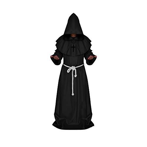 Unisex Mantel mit Kapuze für Halloween/Karneval/Cosplay Lange Ärmel Fasching Kapuzenmantel Kostüm Cape Große Größen Schwarz, Rot, Kaffee, Weiß, Blau