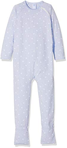 Sanetta Sanetta Baby-Mädchen Overall Long Schlafstrampler, Blau (Dove 50138.0), 74