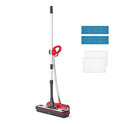 Polti Moppy Limpiador de suelos con vapor sin cables para todo tipo de suelos y superficies verticales lavables, 1500 W, Rojo