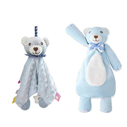 Baby Boy Taggy Blanket, Poupée Ours - Bébé TAGGY Couvertures Avec Teether, Super Soft enfants en bas âge Balises Blanket meilleur cadeau pour bébé