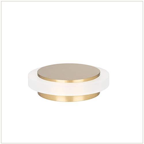 EVI Beschläge I-203/35x12-BLMT Türstopper, selbstklebend, Messing, matt, weißes Gummi
