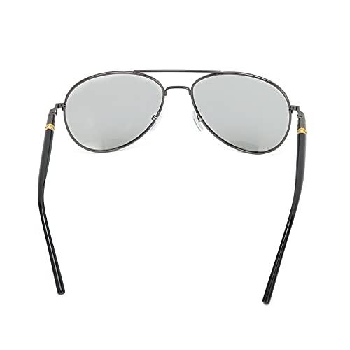 Gafas masculinas, gafas para ancianos de material metálico de alta calidad para exteriores