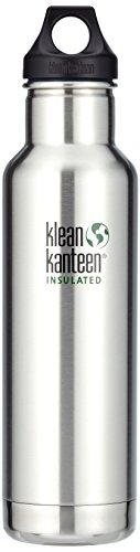 Klean Kanteen Edelstahlflasche mit Loop Verschluss 592 ml Vakuum Insulated Classic, Brushed Stainless, 1003101