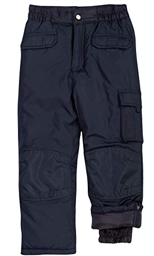 CHEROKEE Boys and Girls Snow Pants ? Insulated Heavyweight Water-Resistant Ski Pant, Size 4, Black