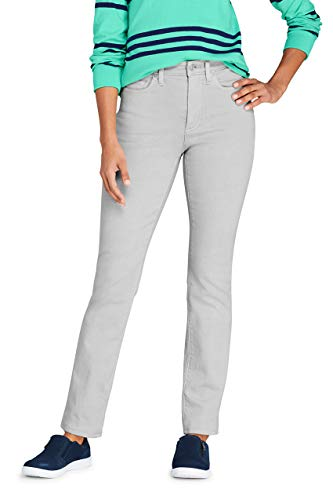 Lands' End Womens High Rise Compression Straight Leg Colorful Jeans Washed Desert Moon Tall 14 34