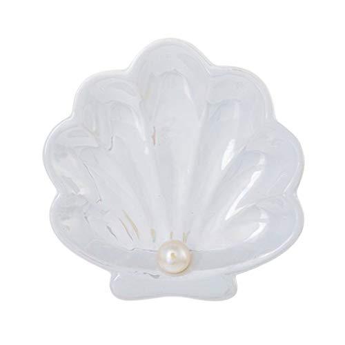 Schmuckteller Muschel mit Perle aus Keramik