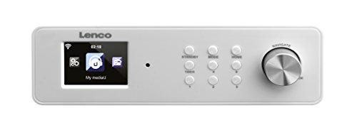Lenco unterbaufähiges Internet Küchen Radio KCR-2014 (6,1 cm (2,4 Zoll) TFT Farbdisplay, PLL FM mit RDS, WLAN, Equalizer, DNLA/UPnP, Fernbedienung)