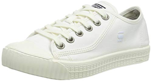G-STAR RAW Damen Rovulc Denim Low Sneakers, Weiß (White 110), 39 EU