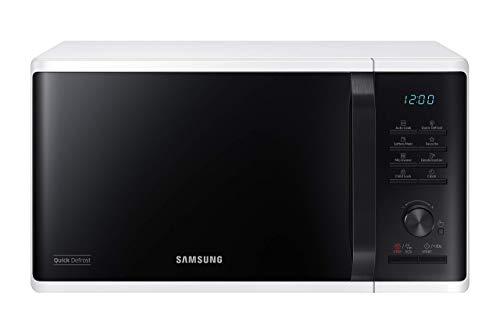 Samsung MW3500K MS2AK3515AW/EG Mikrowelle / 800 W / 23 L Garraum / 48,9 cm Breite / Quick Defrost / 29 Automatikprogramme / weiß / E-Commerce Verpackung