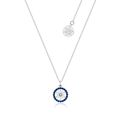Disney Couture Kingdom Frozen II Sterling Silver Snowflake Birthstone Necklace - Sept