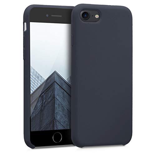 kwmobile Custodia Compatibile con Apple iPhone 7/8 / SE (2020) - Cover in Silicone TPU - Back Case per Smartphone - Protezione Gommata Blu Scuro Matt
