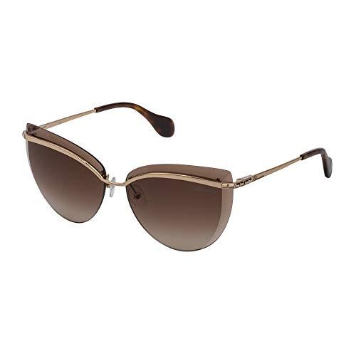 Blumarine Gafas de sol SBM140S 08FC 62-13-140 mujer oro cobrizo brillante lentes brown gradient brown