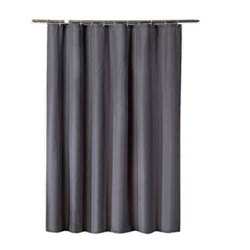Rfvtgb Duschvorhang, wasserdicht, extra breit, 12 Haken, 150 x 180 cm, Dunkelgrau