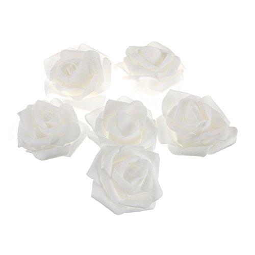 PIXNOR 50pcs mousse artificielle rose pour la décoration de mariage de la maison
