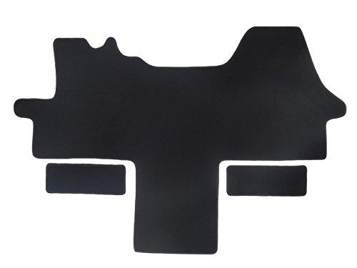 Fußmatte 1614 - Autoteppich von Alpha-Tex (1-tlg. + 2 Einstiege in Qualität Deluxe schwarz, Umrandung schwarz)
