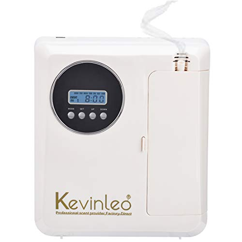Kevinleo Air Scent Machine Cover 800-1,100 sq.ft,Waterless,Concertration Adjustable,Last Long to 120 Hours,Flexible Work Time/Density,12V USA Plug,Wall/Stand Alone,Scent Diffuser Home Office Room …