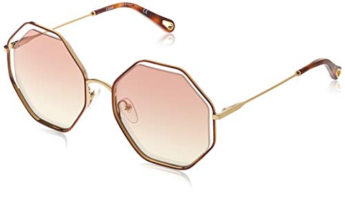 Chloé Ce132s Gafas de Sol, Havana/Bronze, 58 para Mujer